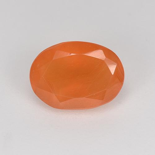 0.8ct Oval Facet Bright Orange Carnelian Gem (ID: 523888)