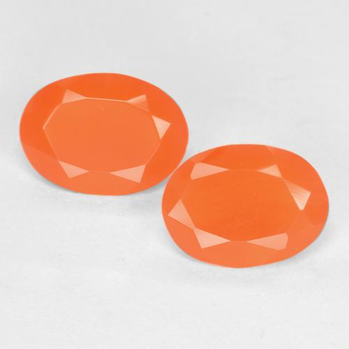 0.5ct Ovale sfaccettato Medium Orange Corniola Gem (ID: 554086)