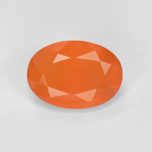0.8ct Ovale sfaccettato Medium Orange Corniola Gem (ID: 556506)