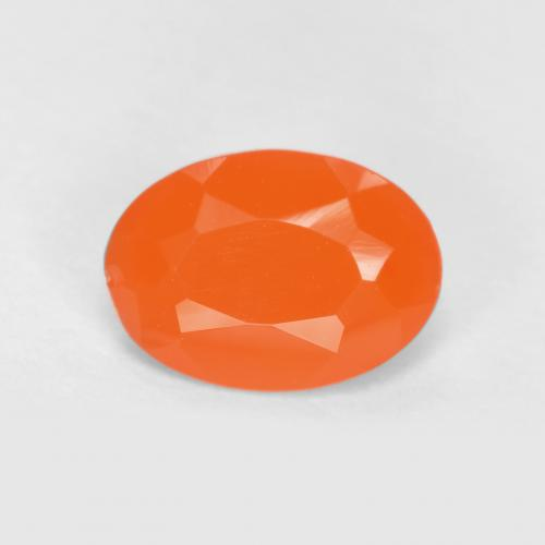 0.6ct Ovale sfaccettato Intense Orange Corniola Gem (ID: 556508)