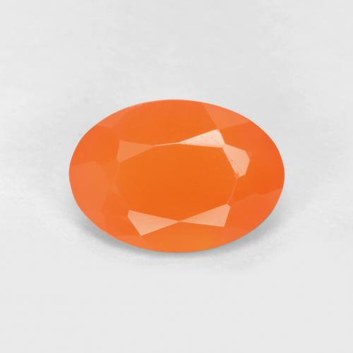 0.6ct Ovale sfaccettato Medium Orange Corniola Gem (ID: 556509)