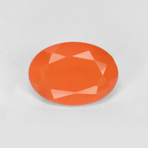 0.6ct Ovale sfaccettato Fire Orange Corniola Gem (ID: 556510)