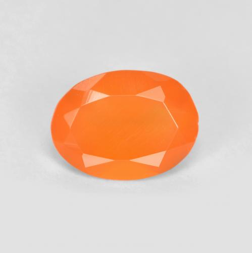 0.6ct Ovale sfaccettato Warm Apricot Orange Corniola Gem (ID: 556512)
