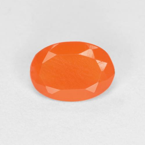 0.3ct Ovale sfaccettato Medium Orange Corniola Gem (ID: 556513)