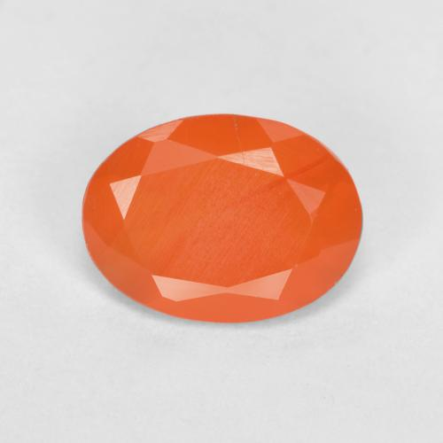 0.7ct Ovale sfaccettato Fire Orange Corniola Gem (ID: 556516)