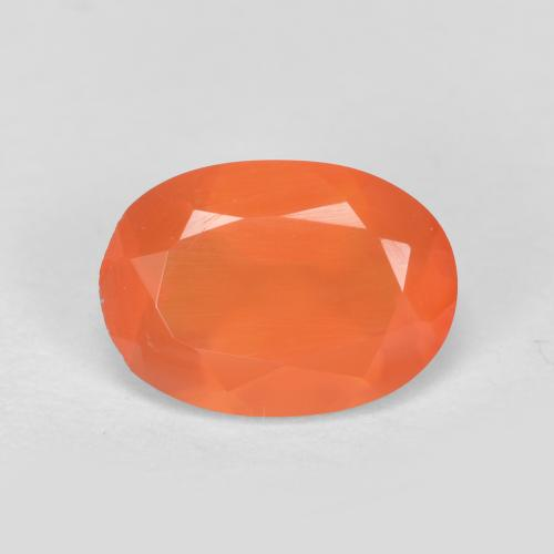 0.6ct Ovale sfaccettato Intense Orange Corniola Gem (ID: 556614)