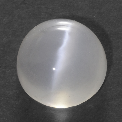 1.5ct Round Cabochon Translucent White Cat's Eye Moonstone Gem (ID: 500333)