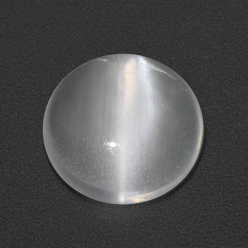 White Cat's Eye Moonstone Gem - 2.7ct Round Cabochon (ID: 512461)