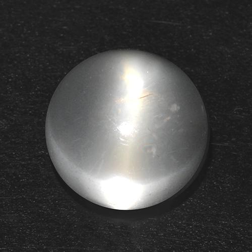 White Cat's Eye Moonstone Gem - 2.1ct Round Cabochon (ID: 512464)