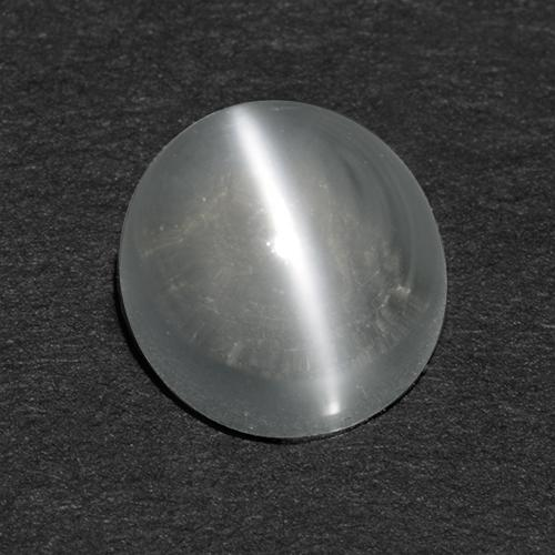 White Cat's Eye Moonstone Gem - 0.9ct Round Cabochon (ID: 513048)