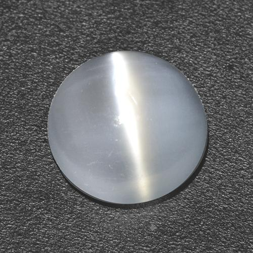 White Cat's Eye Moonstone Gem - 1.5ct Round Cabochon (ID: 513051)