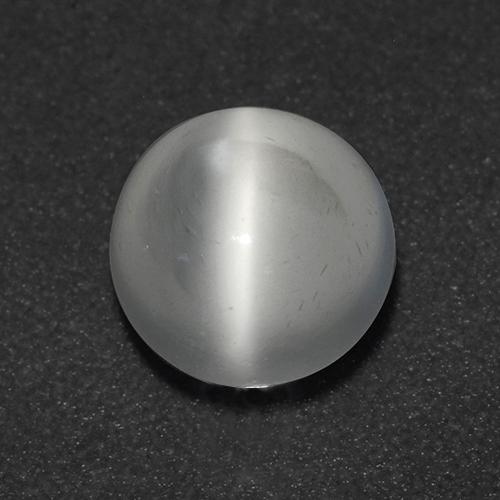 White Cat's Eye Moonstone Gem - 1.1ct Round Cabochon (ID: 513055)