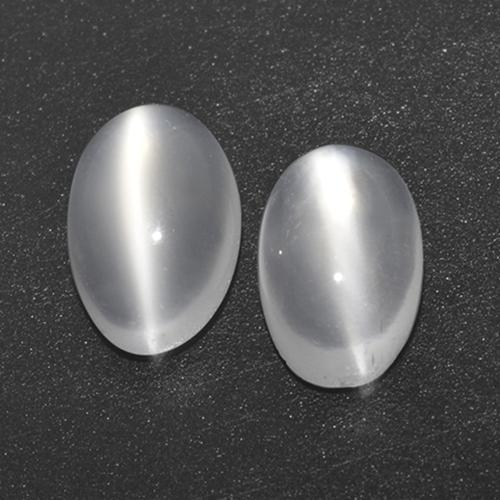 White Cat's Eye Moonstone Gem - 0.7ct Oval Cabochon (ID: 517093)
