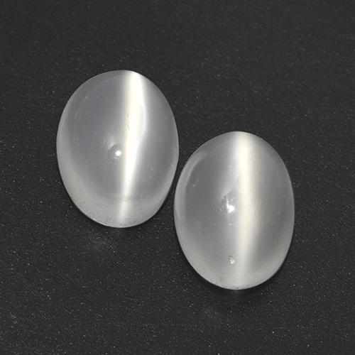 White Cat's Eye Moonstone Gem - 1.1ct Oval Cabochon (ID: 517095)