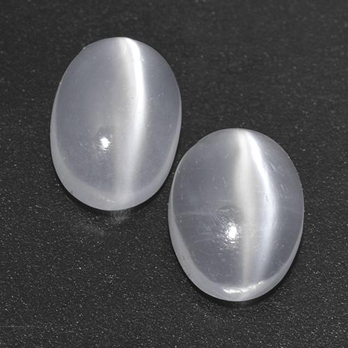 White Cat's Eye Moonstone Gem - 0.8ct Oval Cabochon (ID: 517097)