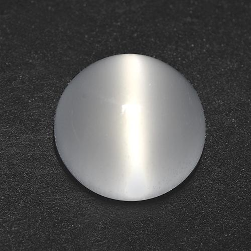 White Cat's Eye Moonstone Gem - 3.4ct Round Cabochon (ID: 517310)
