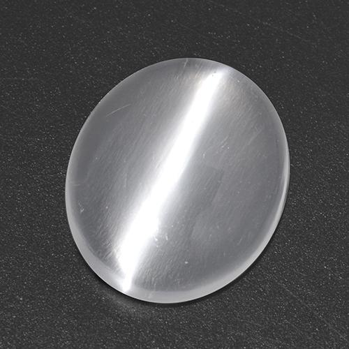 White Cat's Eye Moonstone Gem - 2.2ct Oval Cabochon (ID: 517549)