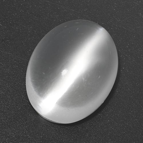 White Cat's Eye Moonstone Gem - 3.5ct Oval Cabochon (ID: 517551)