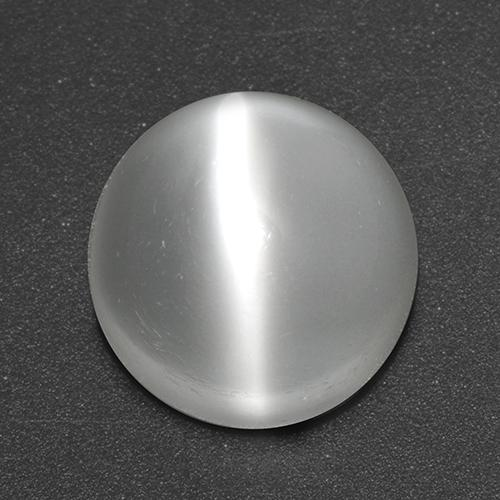 White Cat's Eye Moonstone Gem - 3.9ct Round Cabochon (ID: 517871)
