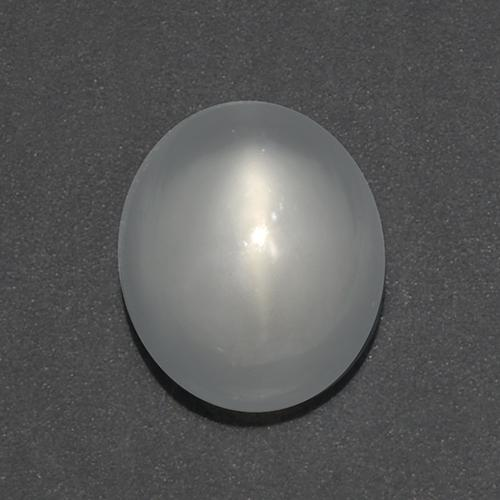 White Cat's Eye Moonstone Gem - 1ct Oval Cabochon (ID: 519182)