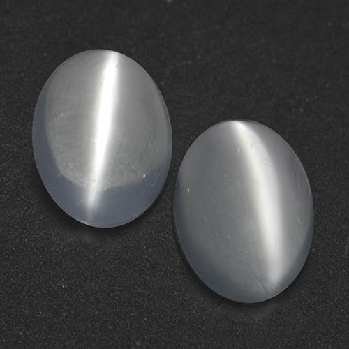 White Cat's Eye Moonstone Gem - 0.8ct Oval Cabochon (ID: 519948)
