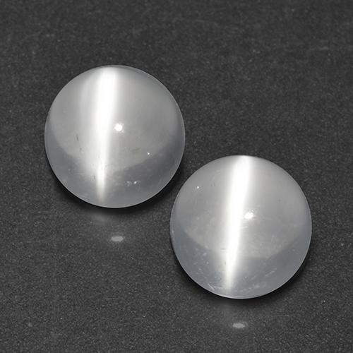 White Cat's Eye Moonstone Gem - 0.8ct Round Cabochon (ID: 519952)