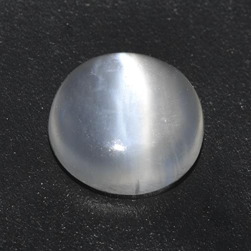 White Cat's Eye Moonstone Gem - 0.9ct Round Cabochon (ID: 522663)
