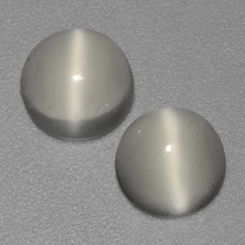 White Cat's Eye Moonstone Gem - 0.9ct Round Cabochon (ID: 524039)