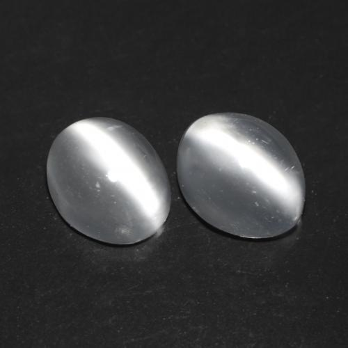 White Cat's Eye Moonstone Gem - 0.8ct Oval Cabochon (ID: 542513)