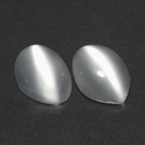 White Cat's Eye Moonstone Gem - 0.8ct Oval Cabochon (ID: 542979)