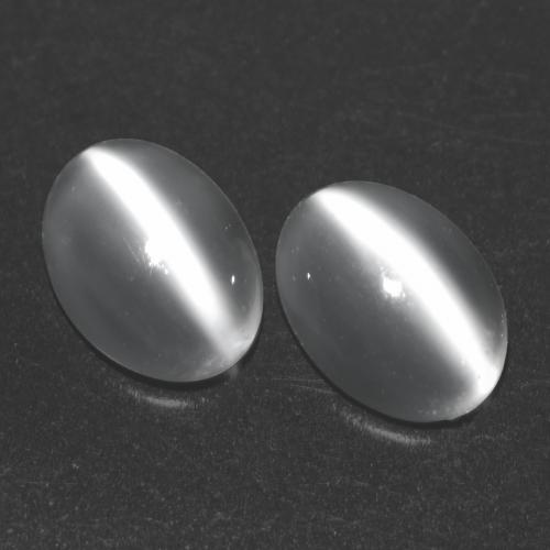 White Cat's Eye Moonstone Gem - 0.8ct Oval Cabochon (ID: 542988)