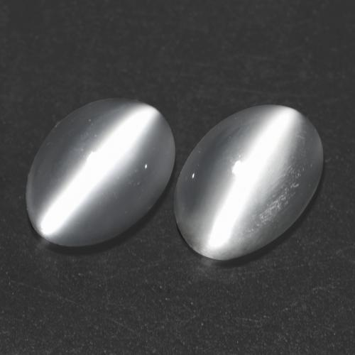 White Cat's Eye Moonstone Gem - 0.9ct Oval Cabochon (ID: 542989)