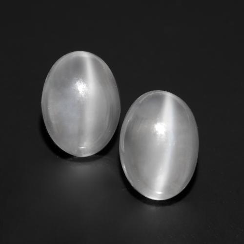 White Cat's Eye Moonstone Gem - 1.5ct Oval Cabochon (ID: 546315)