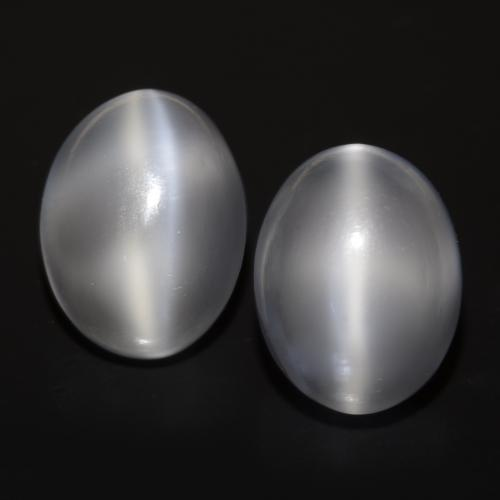 White Cat's Eye Moonstone Gem - 2.4ct Oval Cabochon (ID: 546322)