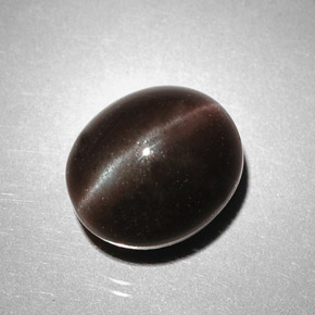 Buy 5.85 ct Dark Brown Cat's Eye Scapolite 10.48 mm x 9 mm from GemSelect (Product ID: 262176)