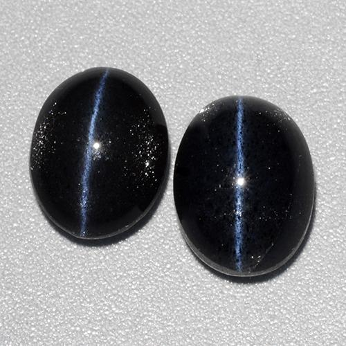 Black Cat's Eye Scapolite Gem - 2.9ct Oval Cabochon (ID: 484177)