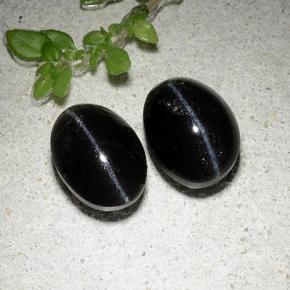 Black Cat's Eye Scapolite Gem - 2.4ct Oval Cabochon (ID: 484942)