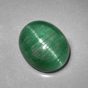 Buy 2.09 ct Green Cat's Eye Tourmaline 8.55 mm x 7 mm from GemSelect (Product ID: 317876)