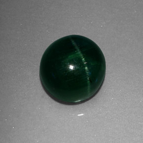 Buy 2.43ct Deep Green Cat's Eye Tourmaline 7.14mm  from GemSelect (Product ID: 325526)