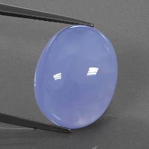 Buy 14.78ct Lavender Blue Chalcedony 17.75mm x 13.93mm from GemSelect (Product ID: 322641)