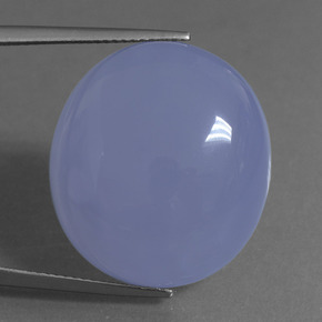 Royal Violet Chalcedony Gem - 37.3ct Oval Cabochon (ID: 456803)