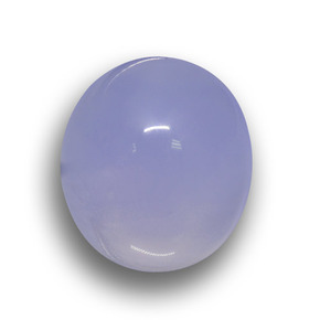 Lavender Blue Chalcedony Gem - 18.2ct Oval Cabochon (ID: 458563)