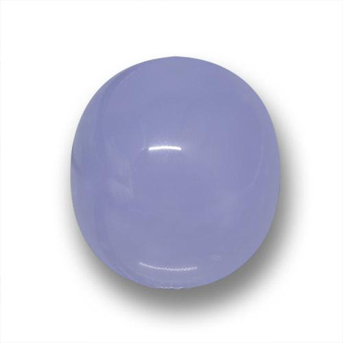 Lavender Blue Chalcedony Gem - 22.7ct Oval Cabochon (ID: 458666)