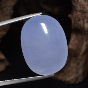 Lavender Blue Chalcedony Gem - 27.1ct Oval Cabochon (ID: 469412)