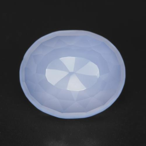 Violet Blue Chalcedony Gem - 5.3ct Oval Buff-Top (ID: 530476)