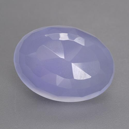 Bluish Violet Chalcedony Gem - 8.6ct Oval Buff-Top (ID: 530670)