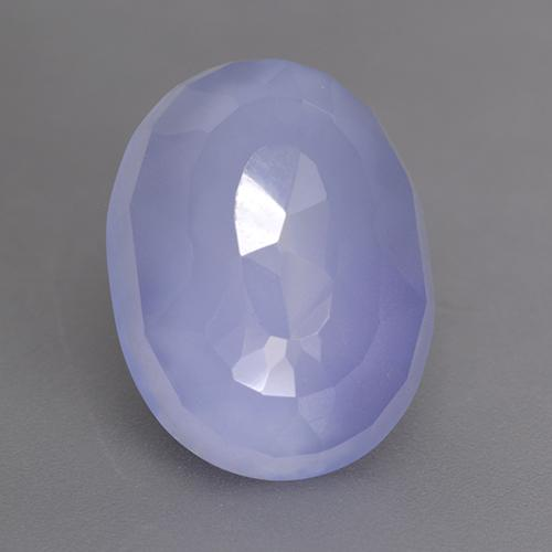 Royal Violet Chalcedony Gem - 7.7ct Oval Buff-Top (ID: 530671)