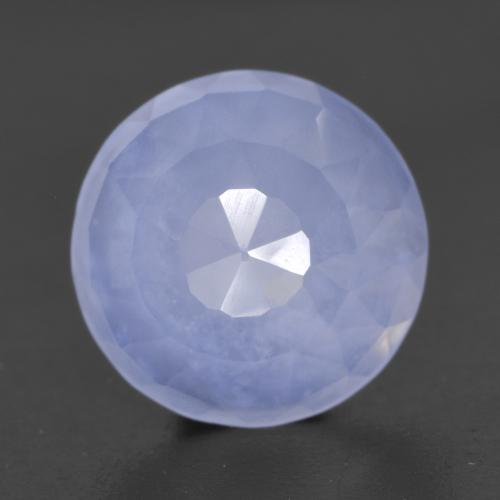 Royal Violet Chalcedony Gem - 3.8ct Round Buff-Top (ID: 531029)