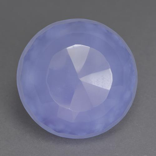 Lavender Blue Chalcedony Gem - 9.2ct Round Buff-Top (ID: 531046)