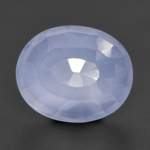 Light Blue Chalcedony Gem - 4.6ct Oval Buff-Top (ID: 531230)